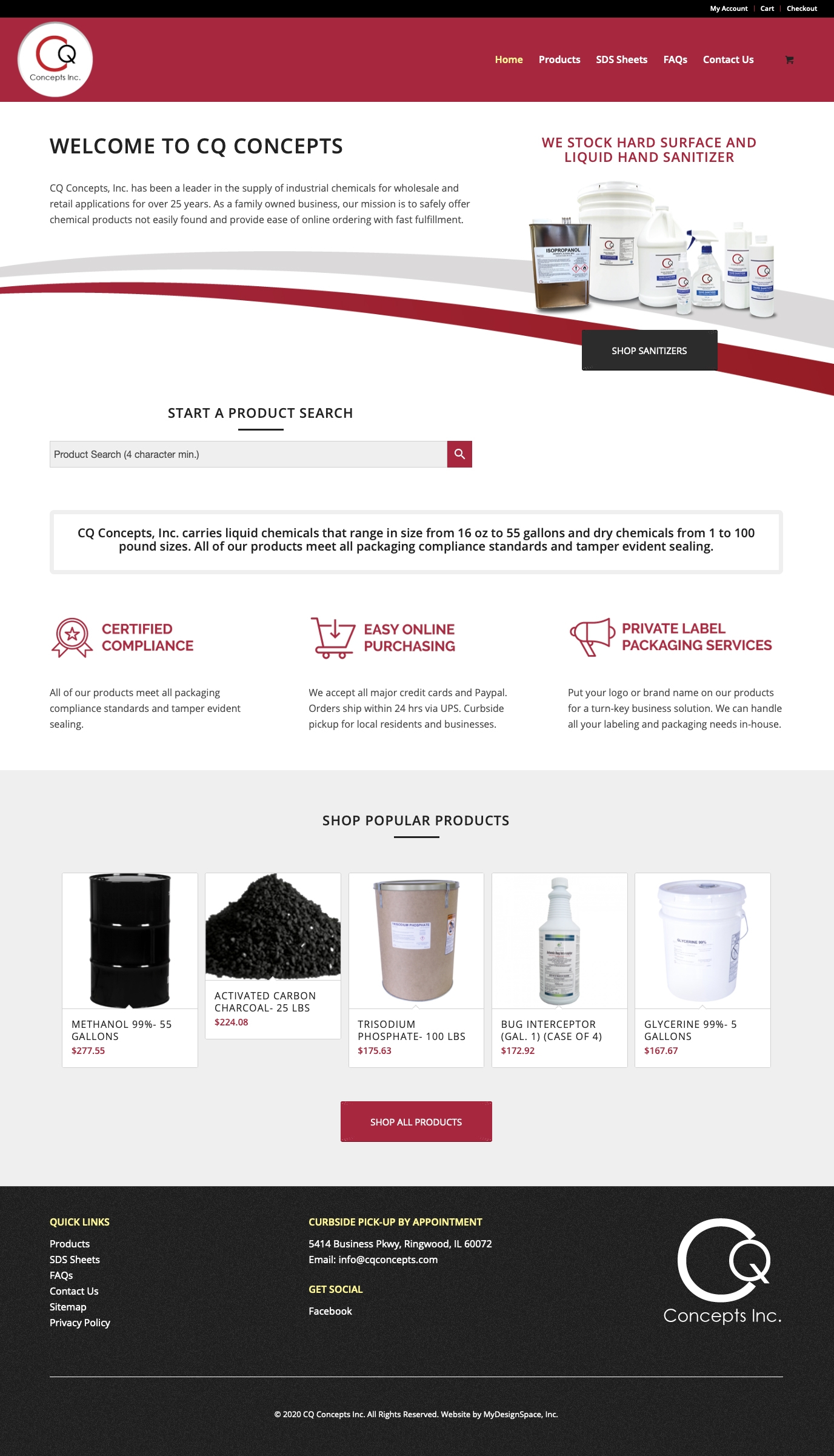 CQ Concepts Home Page Layout