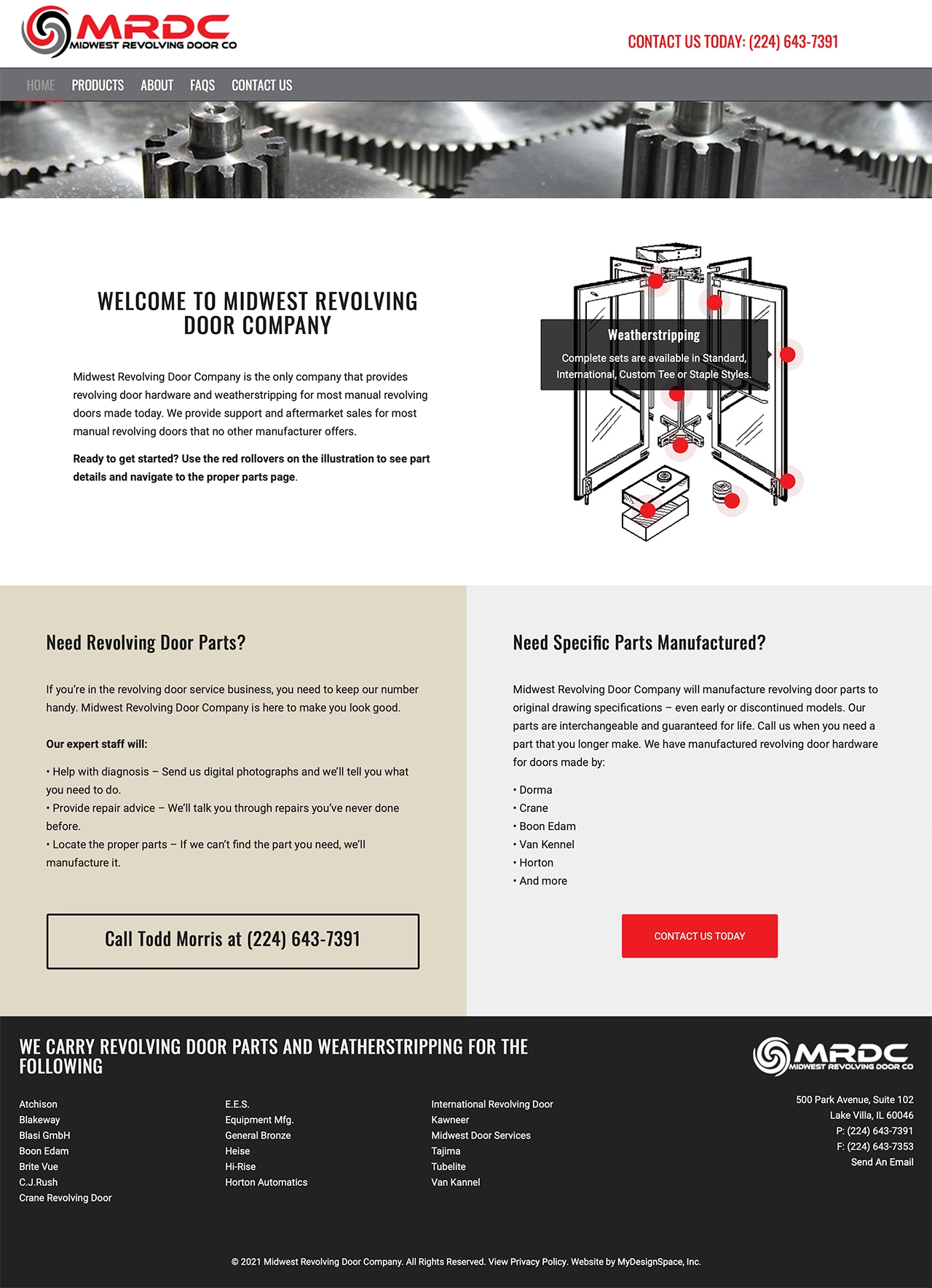 Midwest Revolving Door Company Home Page