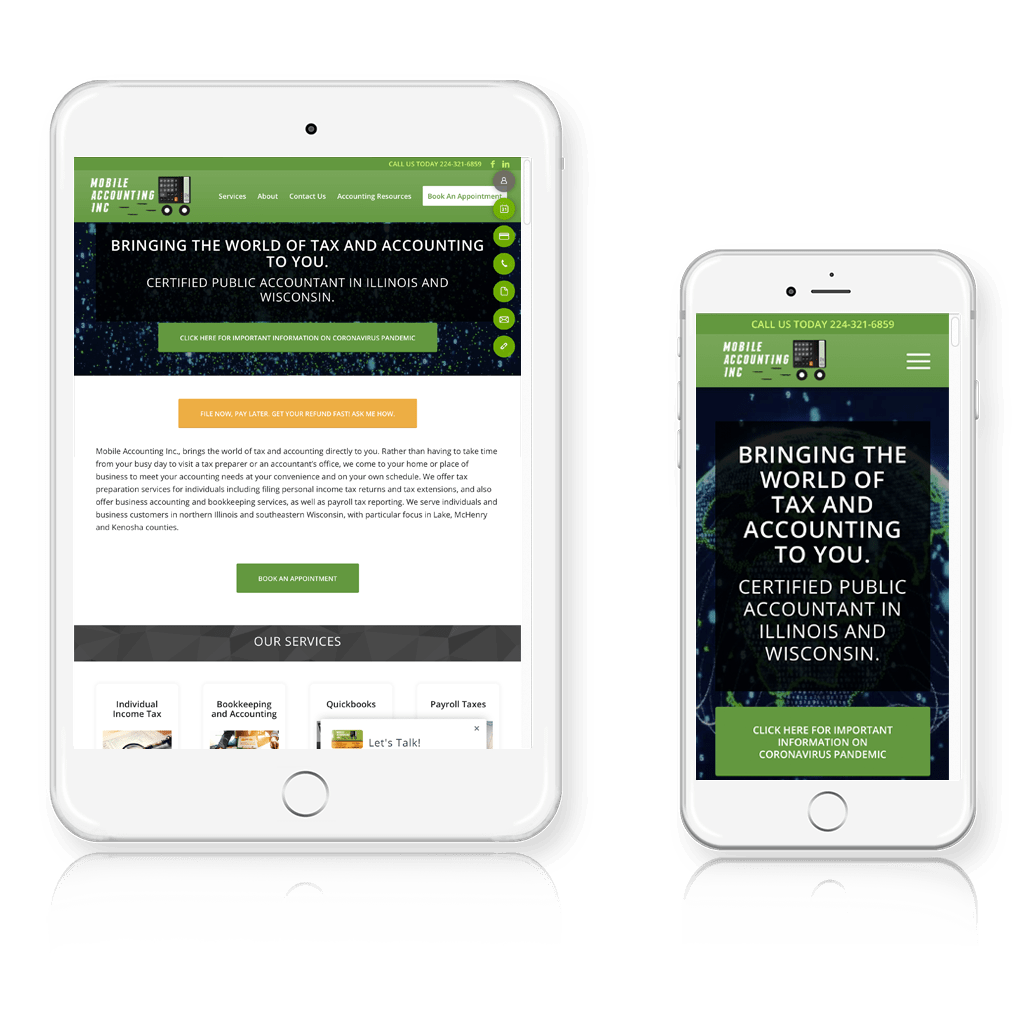 Mobile Accounting Responsive Layout