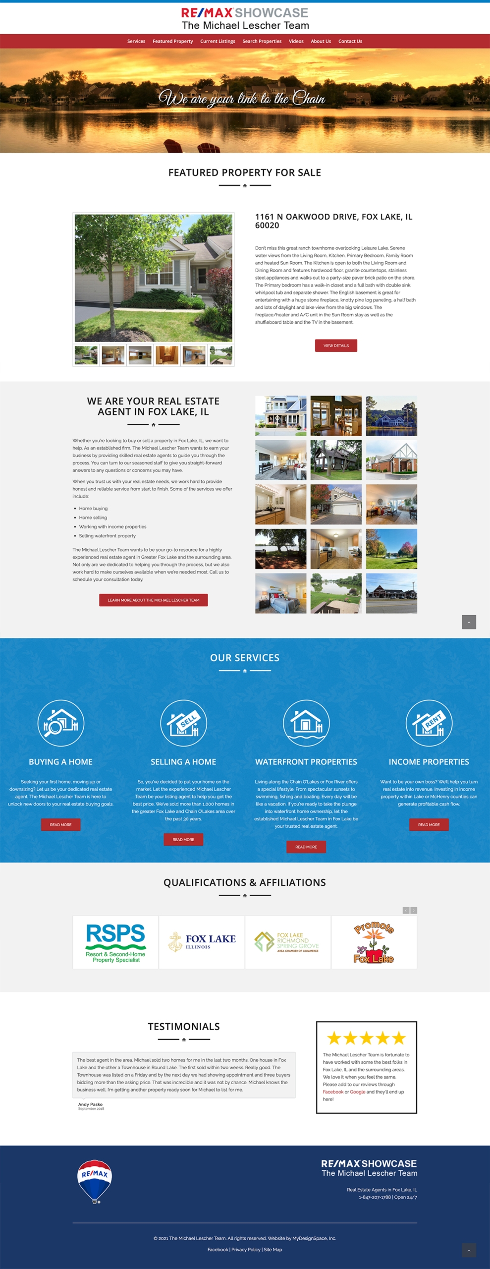 Remax Showcase - The Michael Lescher Team Home Page Layout