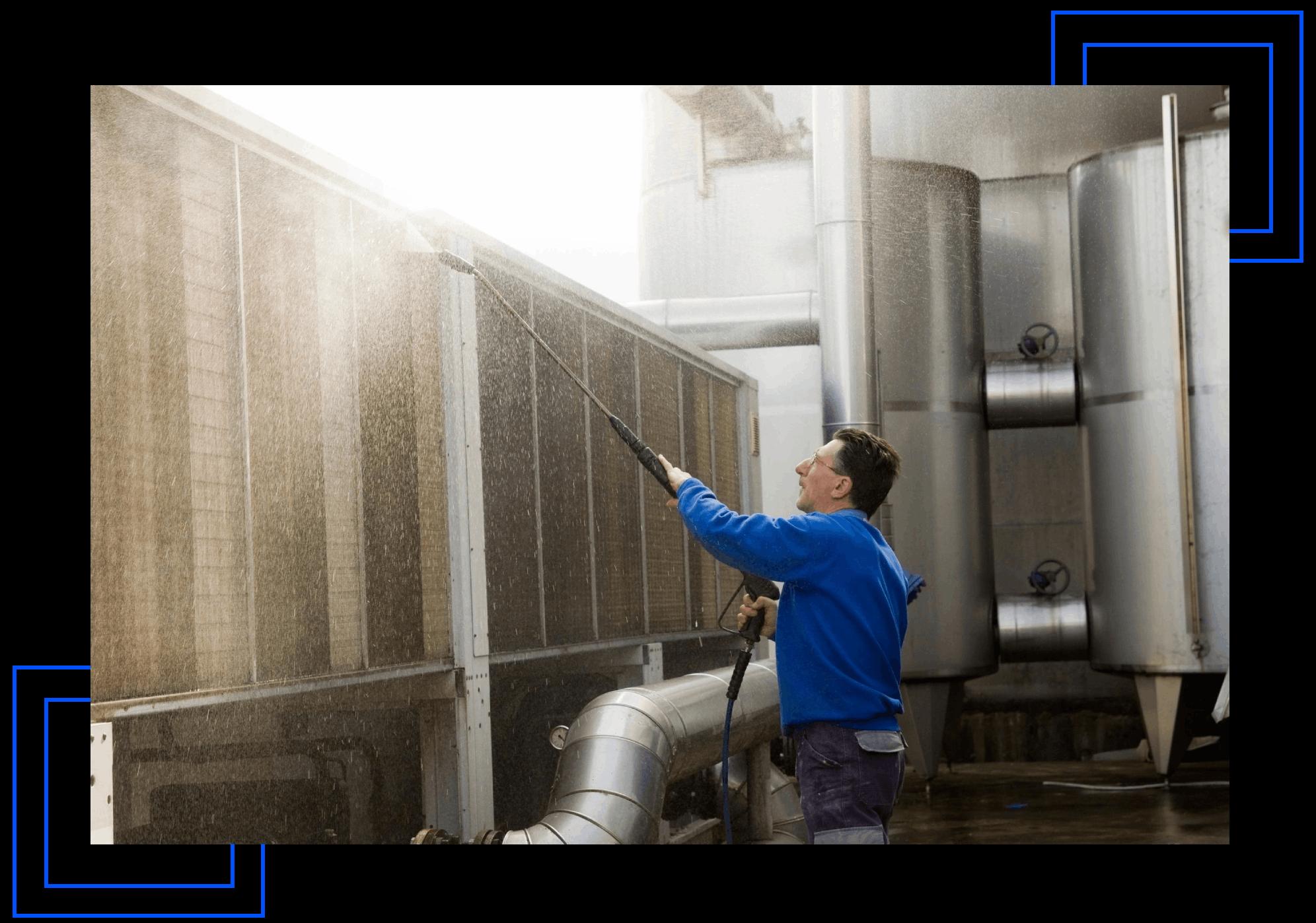 Power Washing Wall