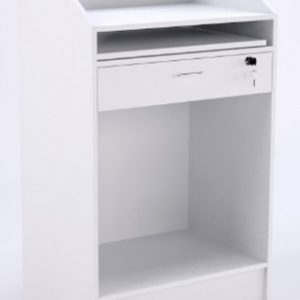 Balcão caixa modelo 1 na cor branca