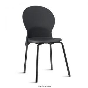 Cadeira luna na cor preta