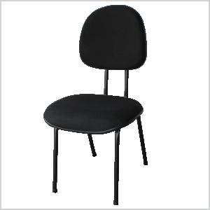 Cadeira executiva palito na cor preta