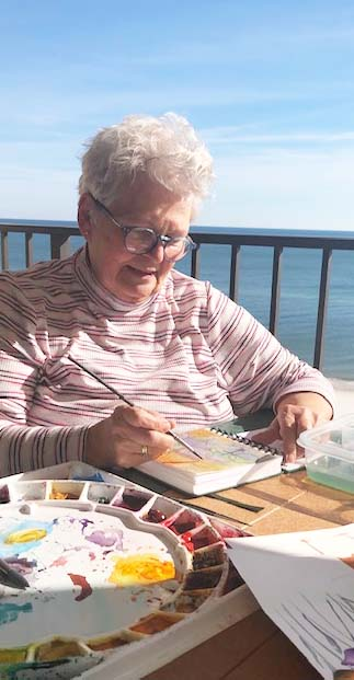 Painting in the Sun-Denise Guerin