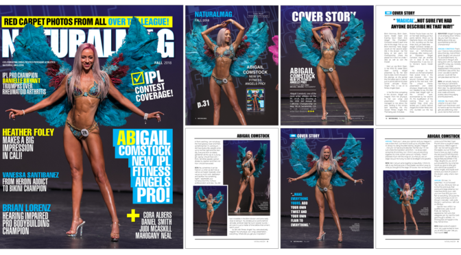 IPL FITNESS ANGELS PRO ABIGAIL COMSTOCK'S NATURALMAG COVER STORY!