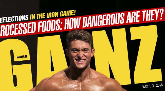 NEW IPL MEN'S ATHLETIC PRO ETHAN BAGWILL LANDS COVER OF NATURAL GAINZ!