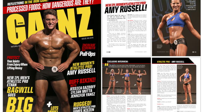IPL WOMEN'S ATHLETIC PRO AMY RUSSELL FEATURED IN NATURAL GAINZ MAGAZINE!