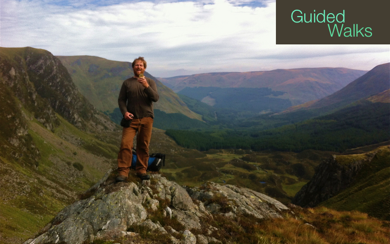Malcolm enjoying life at the top of a guided walk