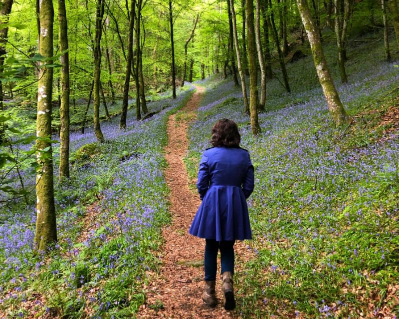 Rachel in bluebell woods