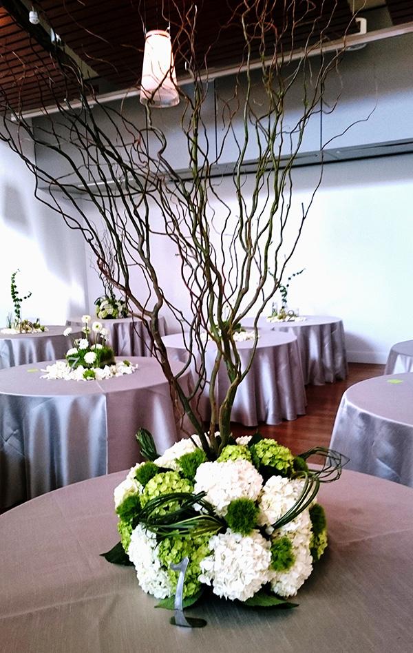 Courtney and Matt Wedding Reception Table Floral Design