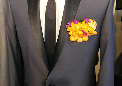 Prom Boutonniere Pinned on Suit
