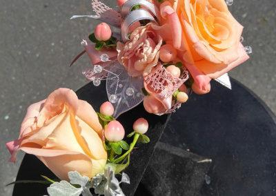 Prom Flowers Peach The Flower Diva