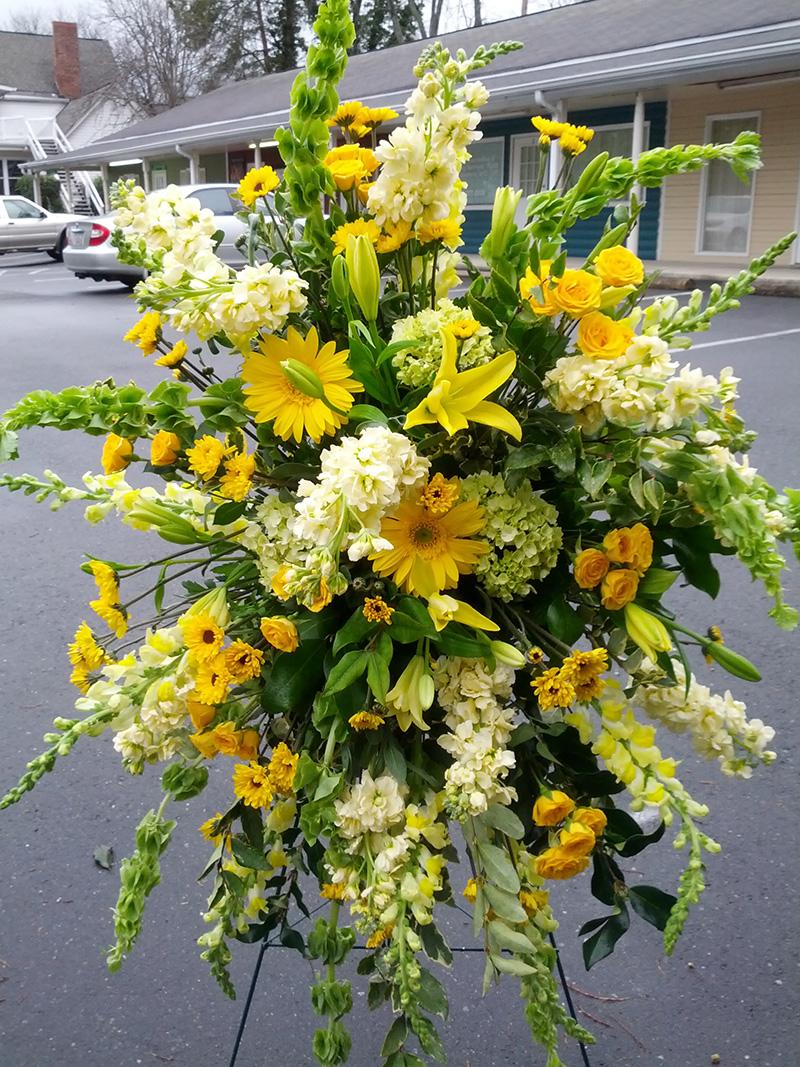 Standing Spray Design By The Flower Diva