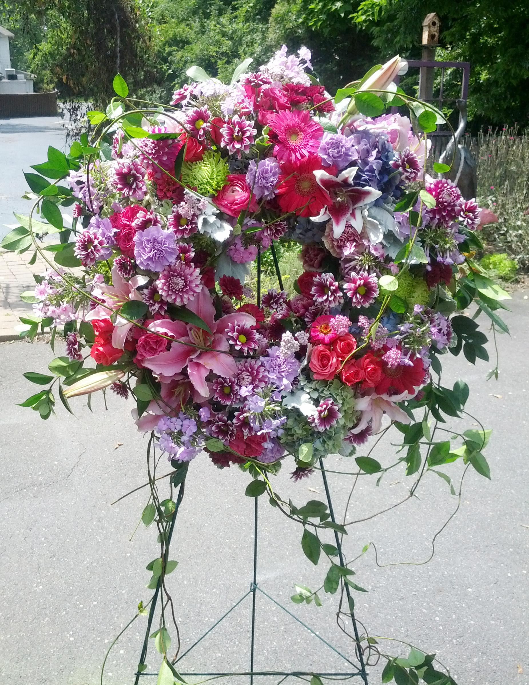 Sympathy Floral Wreath The Flower Diva