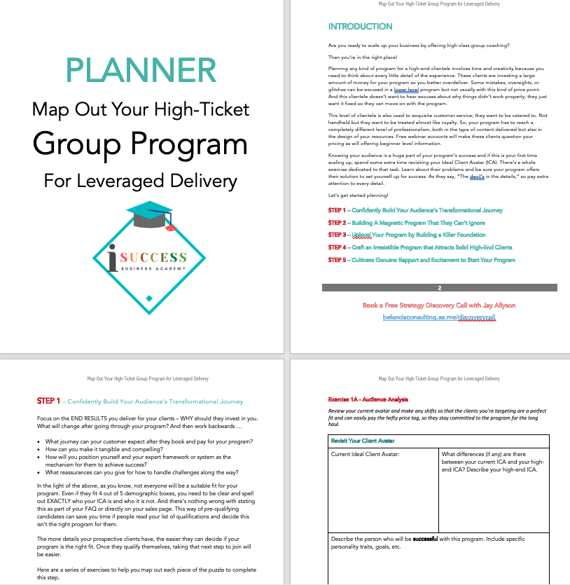 iSuccess group program planner