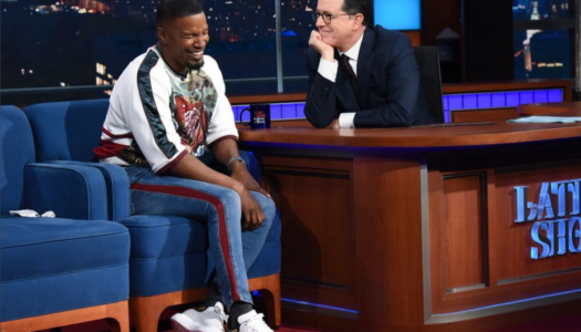 Jamie Foxx struts to New Orleans Second Line as Late Show Guest