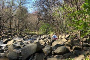 Playing along Sligo Creek
