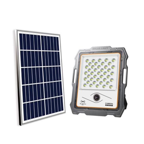 solar camera flood light-100W
