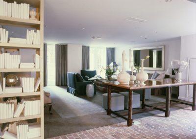 living room books sofa nyc interior design