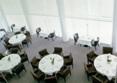 Big tables with chairs