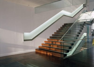 Stairs in golf club