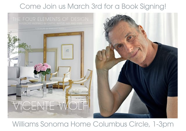 Vicente Wolf Book Signing and Chat