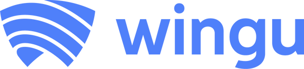 Wingu - logo horizontal - azul