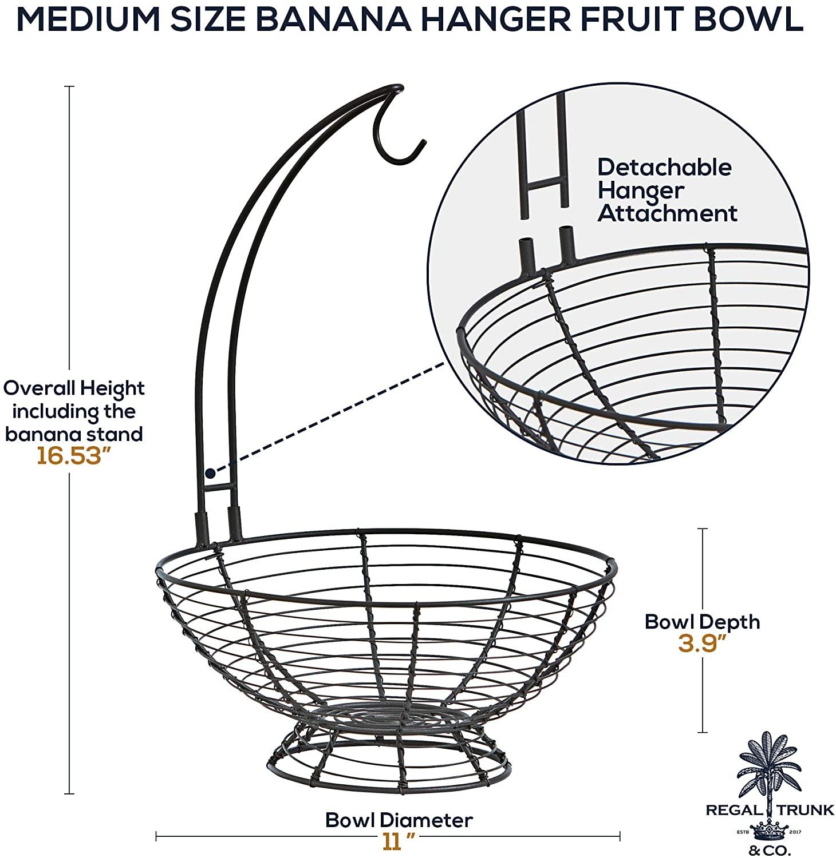 Fruit Basket With Banana Hanger medium size