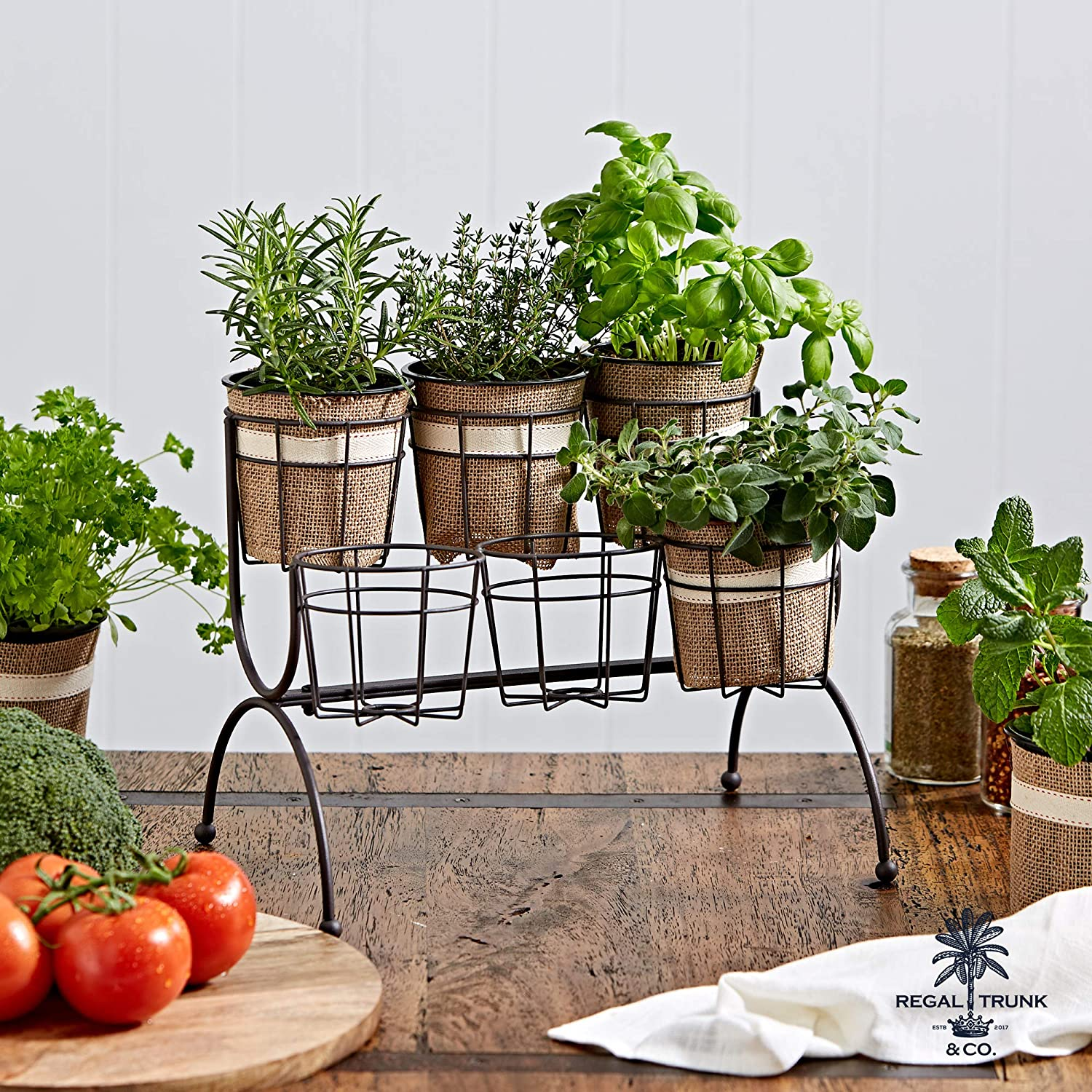 Regal Trunk 6 Pot Tiered Plant Stand