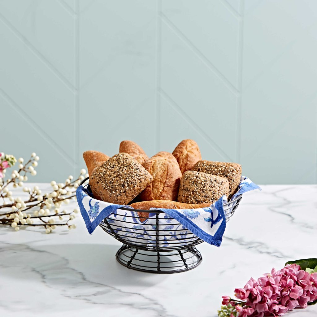fruit basket with a banana hanger for dining table