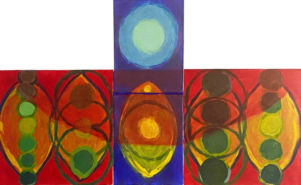 Cantata in Blue, Red, Green, Yellow- the Vesicle
