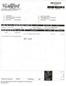 O/E Invoice Format 1