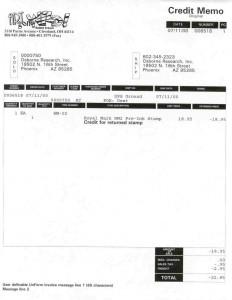 O/E Invoice 1 Credit Memo