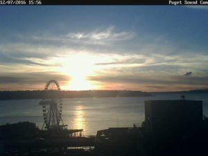 Puget Sound Cam Gorgeous Sunset