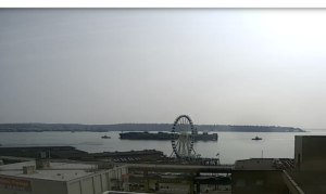 Seattle Waterfront Webcam SWW Tanker and Two Tugs Two 08 2018