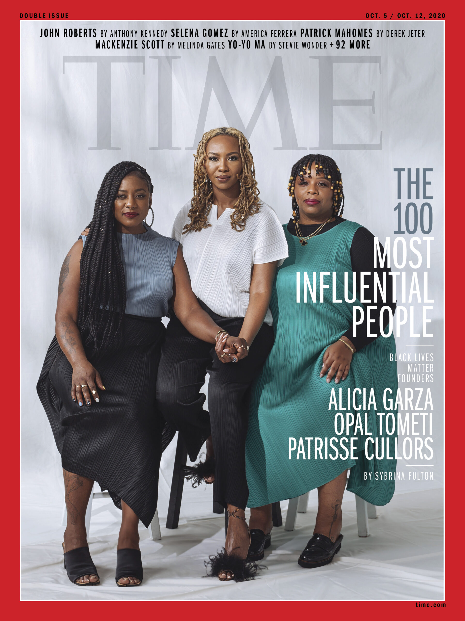 TIME – THE 100 MOST INFLUENTIAL PEOPLE OF 2020 – Black Lives Matter Founders Alicia Garza, Patrisse Cullors and Ayọ Tometi