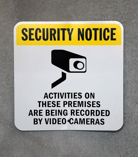 A Security Notice Sign