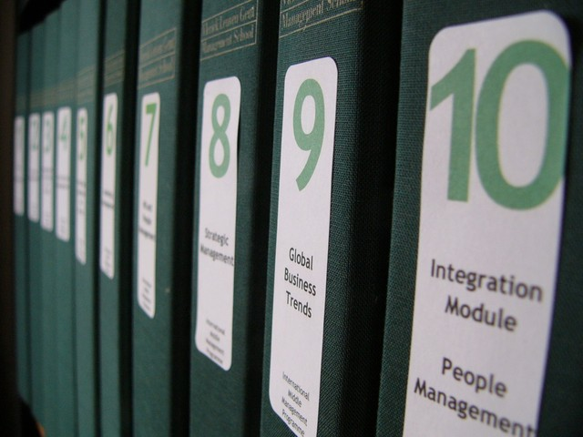A Row of Books on Management