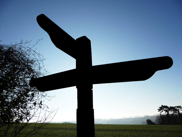 A Cross Roads Sign
