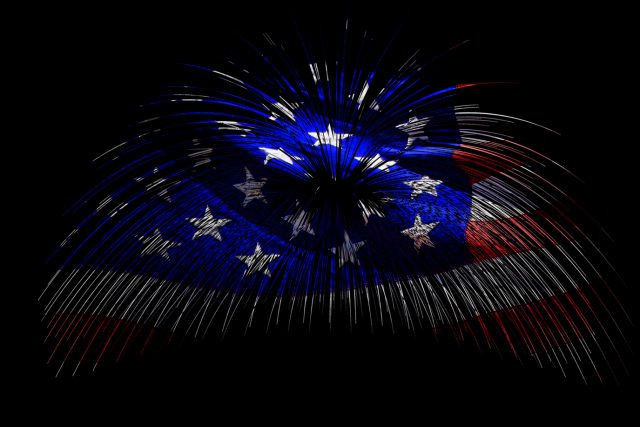 Fireworks of the American Flag