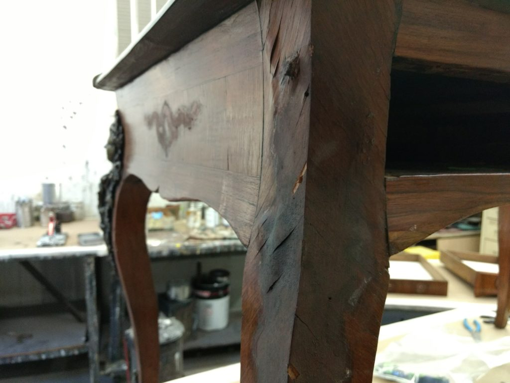 Refinish antique wood furniture