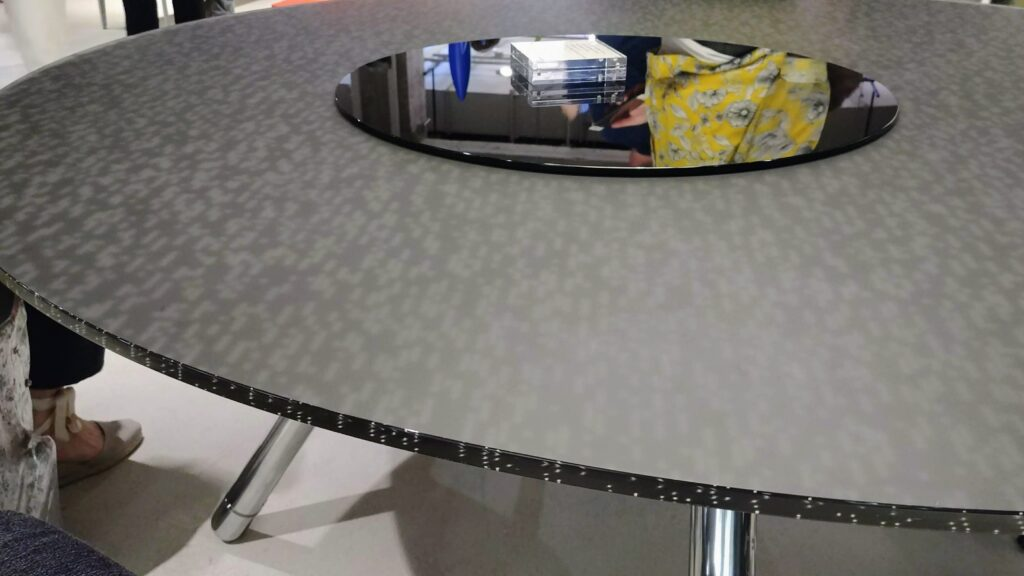 Steelcase Backpainted Glass Table