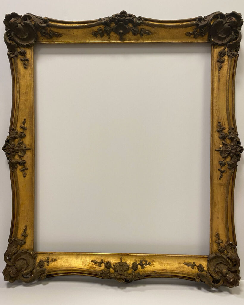 Before treatment Restoration studio Furniture repair Antique conservation Gold frames Gilded frame repair Picture frame restoration Chicago Artmill Group Armand Lee Artifact services Custom framing chicago Chicago Schiller park Arlington heights North shore furniture The Repair Shop Chicago Gilt Gold leaf Ornate frame repair