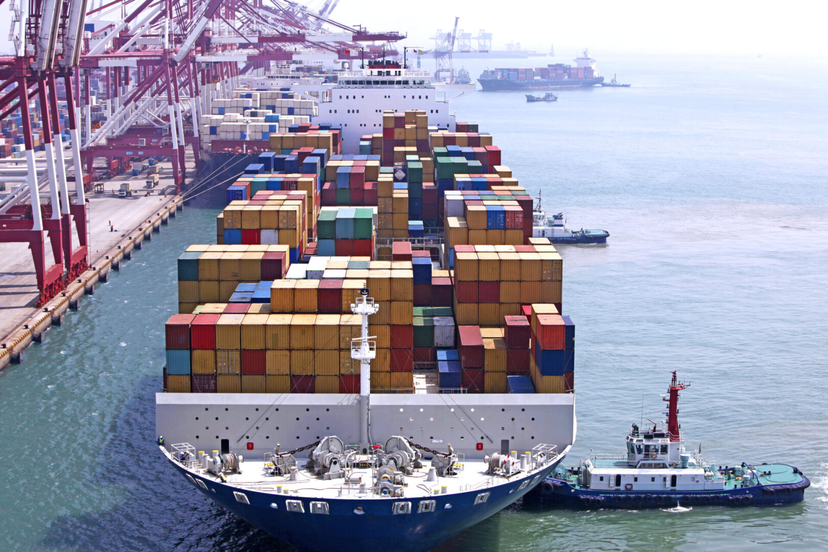 Container ship berthing