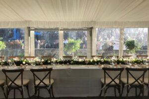 tent reception head table