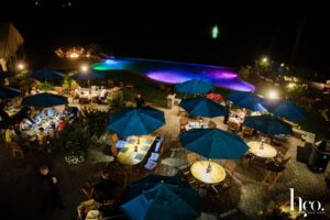 prime outdoor patio at night