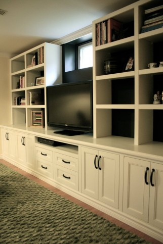 face frame entertainment wall unit