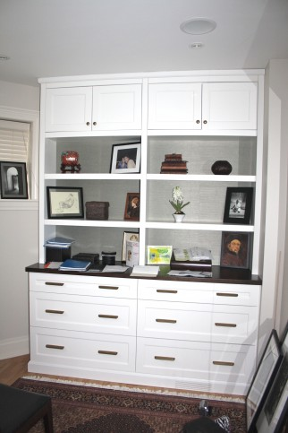 Office cabinetry storage