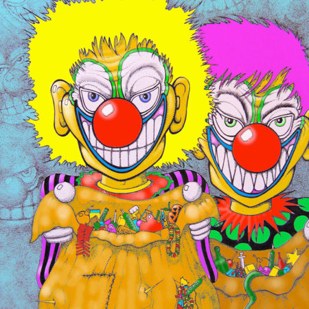 CLOWN - PEN AND INK